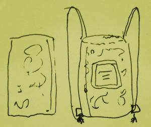 backpack sketch