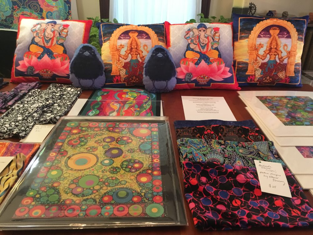 Open Studios Table of art by Eleanor Ramsay
